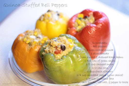 Recipe of the Week| Quinoa-Stuffed Bell Peppers!