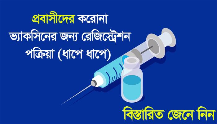 Corona Vaccine Online Registration for Probashi Bangladeshi