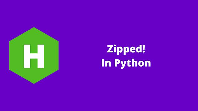 HackerRank Zipped! in python problem solution