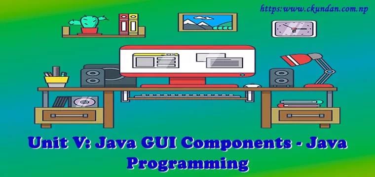 Java GUI Components – Java Programming