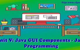 Unit V: Java GUI Components – Java Programming