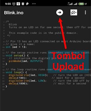 upload program arduino dengan android bulino loader
