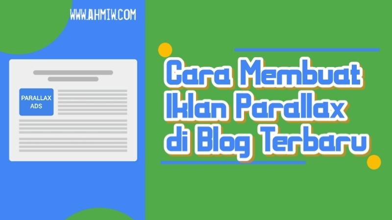 Iklan Parallax si Blog
