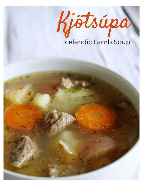 A recipe for Kjötsúpa, a traditional lamb soup from Iceland with root vegetables and cabbage.  Perfect comfort food - easy to make, affordable and hearty!