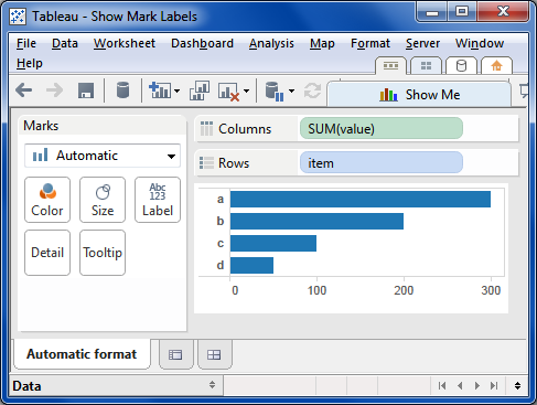 Tableau Friction: A Small Matter of Labels