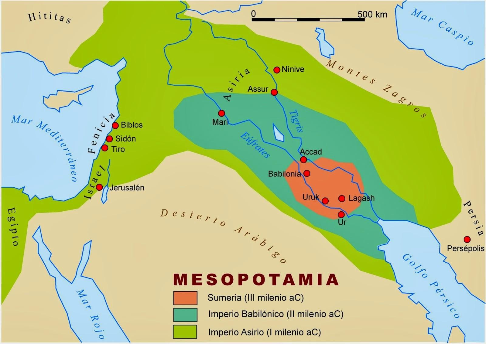 Tigris Y Eufrates Mapa.Mesopotamia Ubicacion Geografica