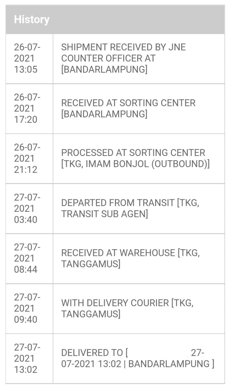 Berapa lama pengiriman JNE Express Reguler?