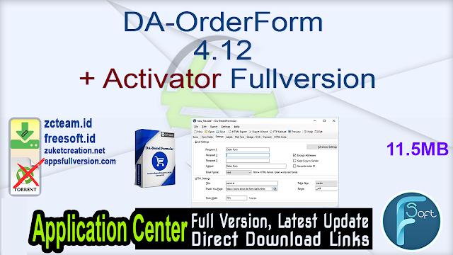 DA-OrderForm 4.12 + Activator Fullversion
