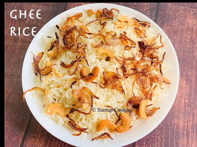Ghee Rice Recipe   Ney Choru Recipe   Startup Cooking