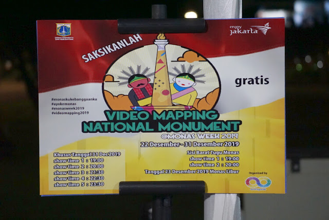 jadwal pertunjukkan video mapping 2019