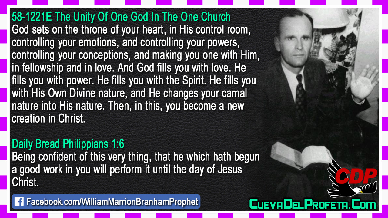 On the throne of your heart - William Marrion Branham