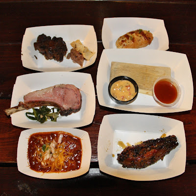 A spread of selections from Houston BBQ Throwdown 2015