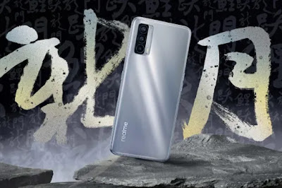 Realme V15 5G warna silver