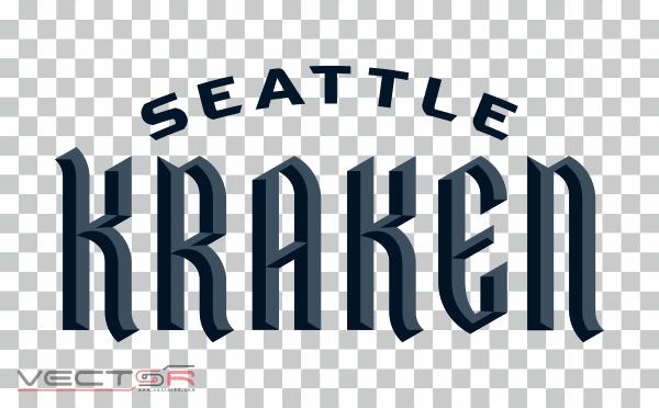 Seattle Kraken Wordmark (2020) Logo - Download .PNG (Portable Network Graphics) Transparent Images