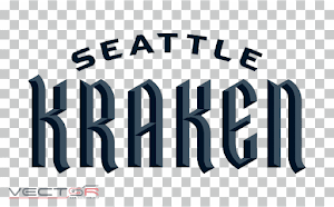 Seattle Kraken Wordmark Logo (.PNG)