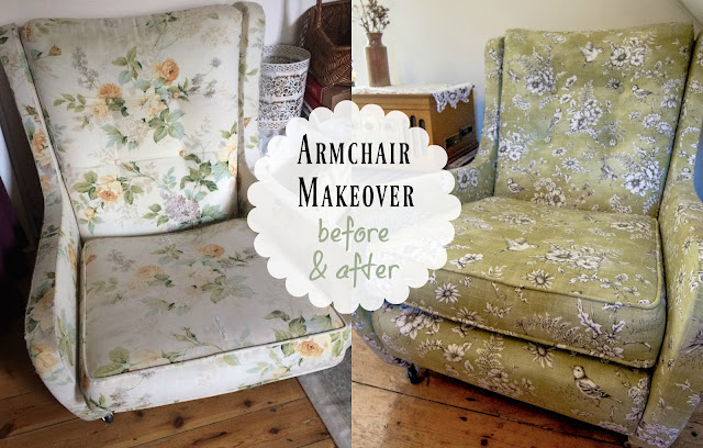 Armchair makeover - before and after