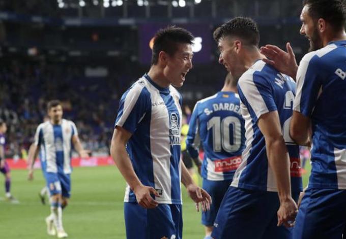 Wu Lei scoring in Spain