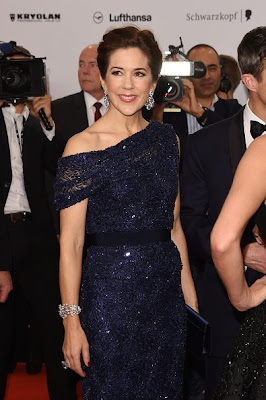 Crown Princess Mary of Denmark and Crown Prince Frederik of Denmark arrive at the Bambi Awards 2014