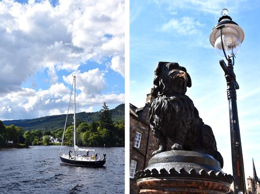Loch Ness und Hund Bobbie in Edinburgh