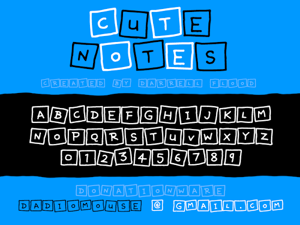 Cute Notes Font Free Download