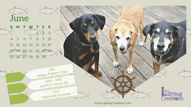 rescue dogs june calendar printable