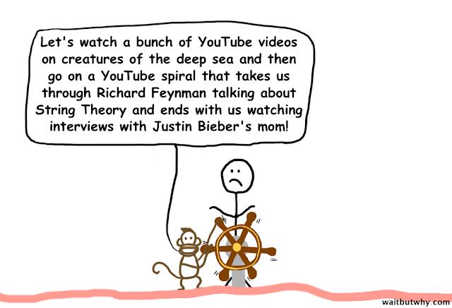 Kemudian ada Si Monkey datang untuk mengajak berkeliling: liat materi baru, apa yang viral dan lagu kesukaan