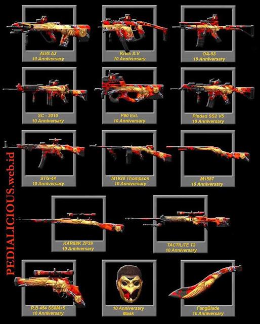 Harga & Statistik Seri 10Anniv Senjata Point Blank