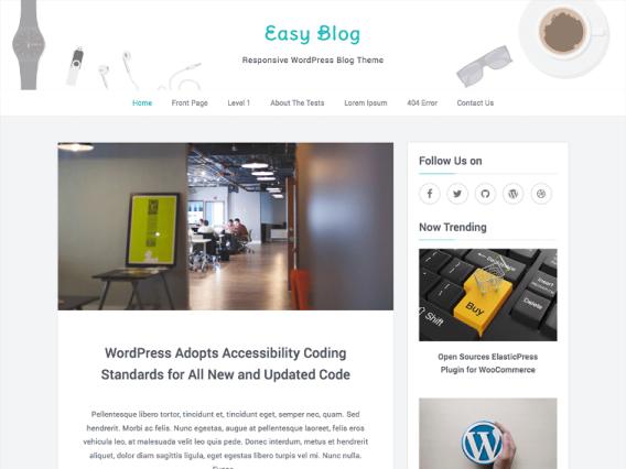 Tema Wordpress Gratis - Easy Blog