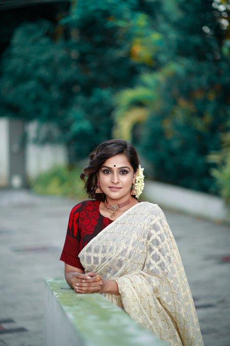 Ramya Nambessan Latest Stills Saree