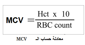 تفسير نتائج مشعر متوسط حجم الكرية الحمراء الوسطي Mcv