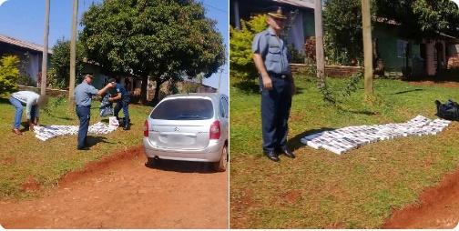 CONCEPCIÓN DE LA SIERRA  : Operativo vehicular- policías incautaron cigarrillos de contrabando, secuestraron un auto y detuvieron a dos personas