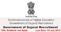 Commissionerate of Higher Education Government of Gujarat Recruitment 2015