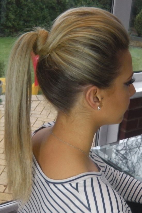 High Ponytail With Poof Hairstyles