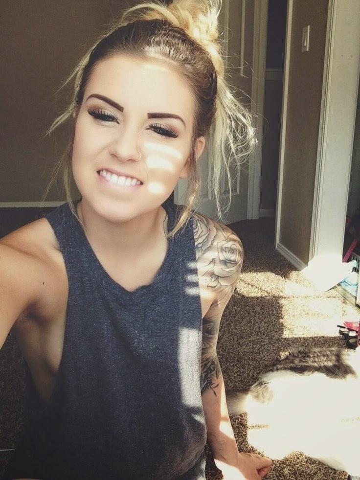 Blonde girl tattoo