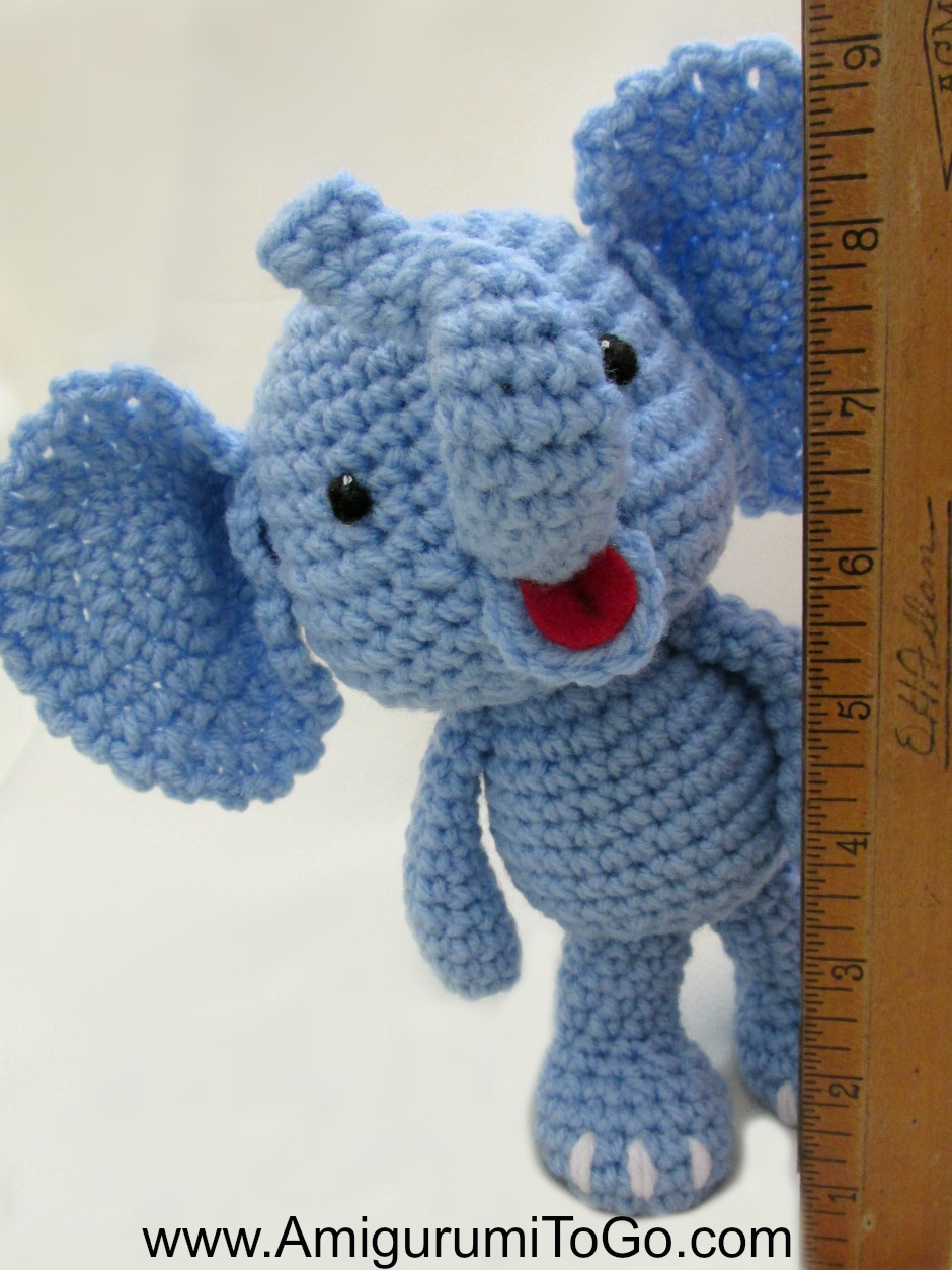 Crochet Baby Elephant Amigurumi - Free Patterns - DIY 4 EVER | 1253x940