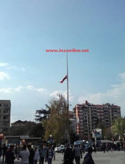 Albanian flag raised at Kumanovo center
