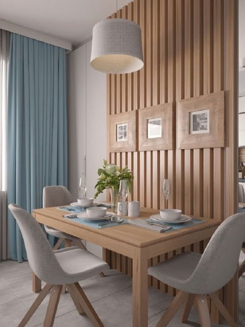 divisória em madeira para sala e cozinha