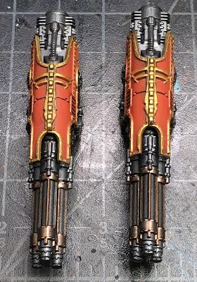 Adeptus Titanicus Legio Ignatum Warlord Titan WIP - Titan Laser Blasters