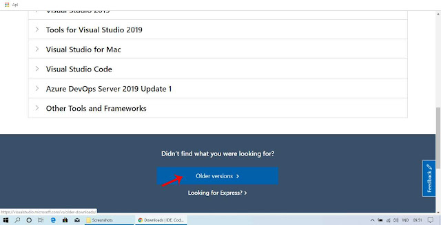 Download Visual Studio Melalui Website Resmi Microsoft