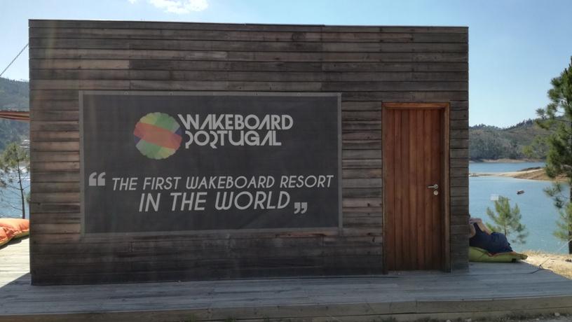 Wakerboard na Praia do Trízio