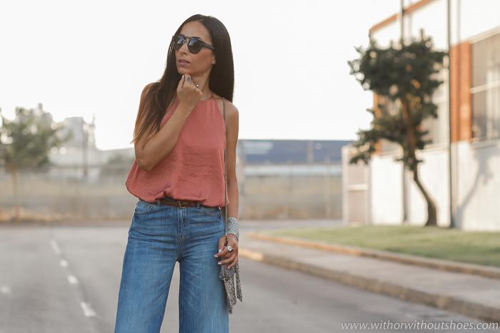 Blogger influencer instagramer de Valencia de moda con ideas para combinar pantalones vaqueros culottes