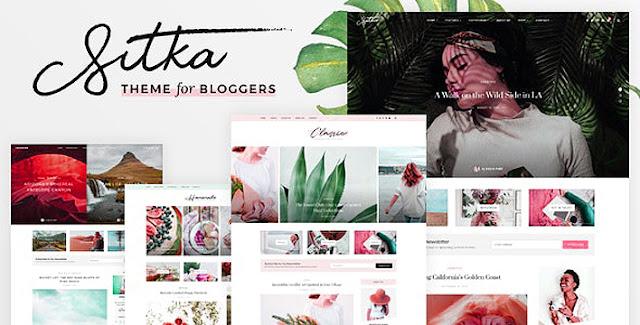 Sitka v1.1 Modern WordPress Blog Theme Free Download Nulled