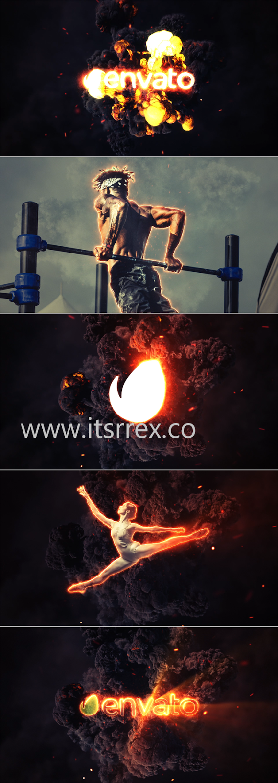 Videohive Fire Explosion Logo & Photo Animation Free Download