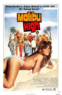 MALIBU HIGH, film, poster, affiche, sexploitation, états-unis, every teacher in school wanted to flunk her but nobody dared