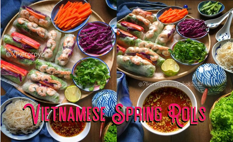 Resepi Vietnamese Spring Rolls & Sos Pencicah Sedap Cara Mudah