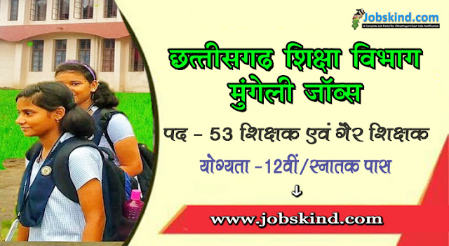 Cg DEO Mungeli Recruitment 2020 Chhattisgarh Mungeli Govt Job Advertisement Govt. English Medium School Daupara Mungeli Recruitment All Sarkari Naukri Information Hindi