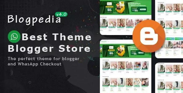 Tokopedia Premium eCommerce Blogger Template
