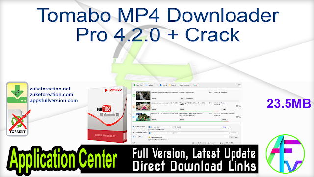 Tomabo MP4 Downloader Pro 4.2.0 + Crack