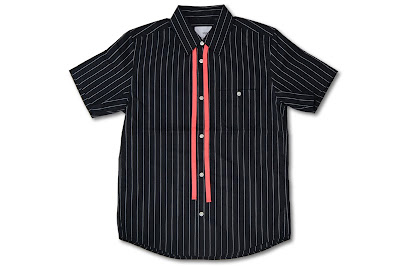 NuGgETS [ ストライプリボンシャツ ] Black