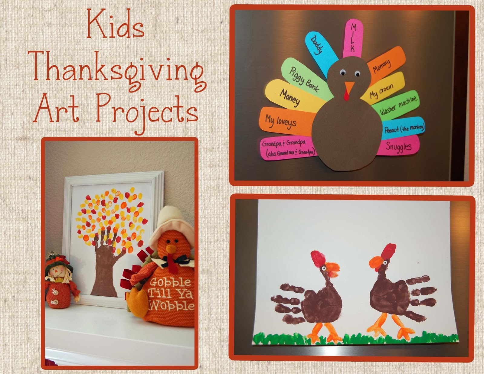 Thankgiving Art Projects For Kids